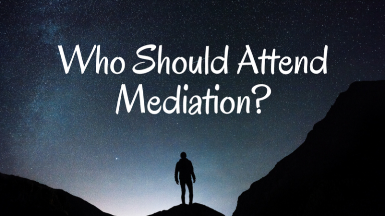 Who Should Attend Mediation